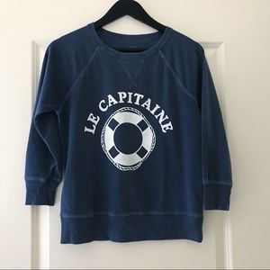 "J.Crew Garment Dyed ""Le Capitan"" Sweatshirt XS"